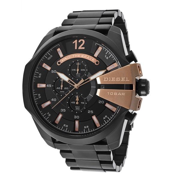 【アウトレット】ディーゼル 時計 メンズ 腕時計 ブラック メタル メガチーフ デイカレンダー クロノグラフ DZ4309 ビジネス 男性 ブランド 【仕事用】 誕生日 お祝い プレゼント ギフト お洒落
