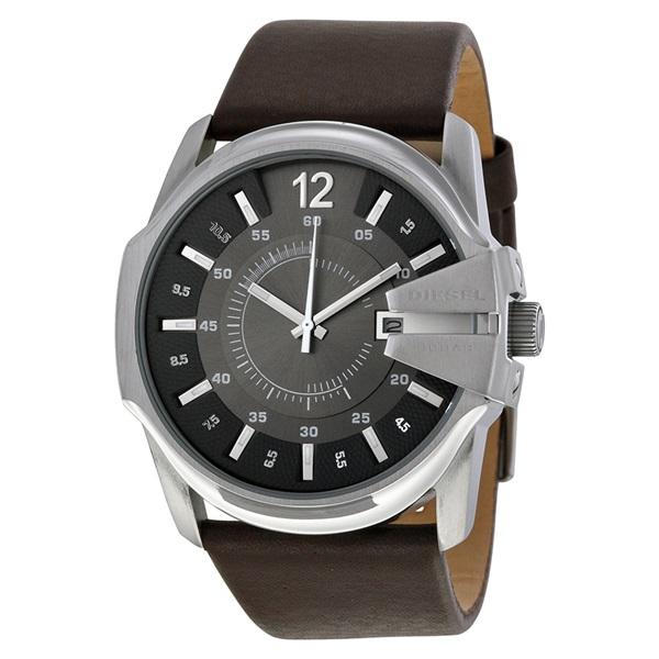 ディーゼル 時計 メンズ 腕時計 グレー ブラウン レザー デイカレンダー DZ1206 ビジネス 男性 ブランド 【仕事用】 誕生日 お祝い プレゼント ギフト お洒落