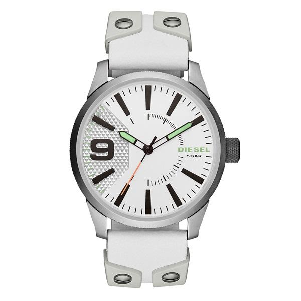 ディーゼル 時計 メンズ 腕時計 ラスプ ホワイト レザー DZ1828 ビジネス 男性 ブランド 【仕事用】 誕生日 お祝い プレゼント ギフト お洒落