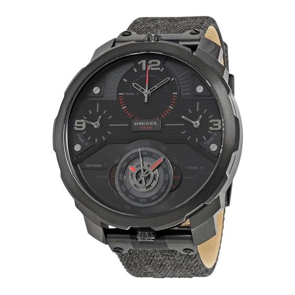 ディーゼル 時計 メンズ 腕時計 Machinus 4 Timezone クロノグラフ 55mm デニム キャンバスベルト DZ7358 ビジネス 男性 ブランド 【仕事用】 誕生日 お祝い プレゼント ギフト お洒落
