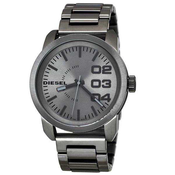 ディーゼル 時計 メンズ 腕時計 フランチャイズ 46mm ガンメタル ステンレス 10気圧防水 DZ1558 ビジネス 男性 ブランド 【仕事用】 誕生日 お祝い プレゼント ギフト お洒落