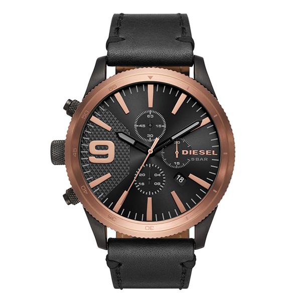 ディーゼル 時計 メンズ 腕時計 RASP ラスプ クロノグラフ 50mm ブロンズ ブラック レザー DZ4445 ビジネス 男性 ブランド 誕生日 お祝い プレゼント ギフト