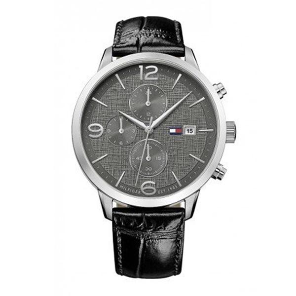 トミーヒルフィガー 時計 メンズ 腕時計 LIAM デュアルタイム 黒文字盤 ブラックレザー 革ベルト スーツ 仕事用 1710361 ビジネス 男性 ブランド 時計 誕生日 お祝い プレゼント ギフト お洒落