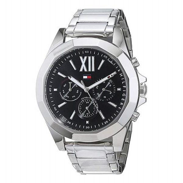 トミーヒルフィガー 時計 レディース 腕時計 CHELS 黒文字盤 シルバー スーツ 仕事用 1781844 ビジネス 女性 ブランド 時計 誕生日 お祝い プレゼント ギフト お洒落