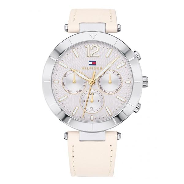 トミーヒルフィガー 時計 レディース 腕時計 CHLOE 38ミリ ボーイズサイズ シルバー ベージュ 女性用 レザー 革 1781880 ビジネス 女性 ブランド 時計 誕生日 お祝い プレゼント ギフト お洒落