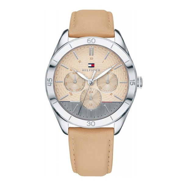 トミーヒルフィガー 時計 レディース 腕時計 GRACI 40ミリ ボーイズサイズ ベージュ 女性用 レザー 革 1781886 ビジネス 女性 ブランド 時計 誕生日 お祝い プレゼント ギフト お洒落