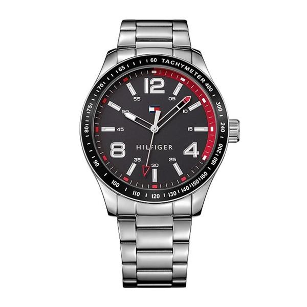 トミーヒルフィガー 時計 メンズ 腕時計 ブラック 黒文字盤 シルバー スーツ ビジネス 1791176 ビジネス 男性 ブランド 時計 誕生日 お祝い プレゼント ギフト