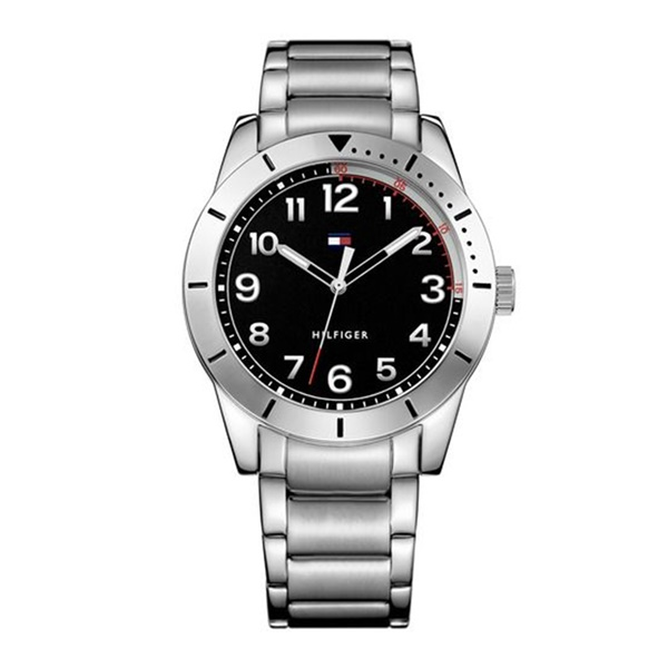 トミーヒルフィガー 時計 メンズ 腕時計 ブラック 黒文字盤 シルバー スーツ ビジネス 1791288 ビジネス 男性 ブランド 時計 誕生日 お祝い プレゼント ギフト お洒落