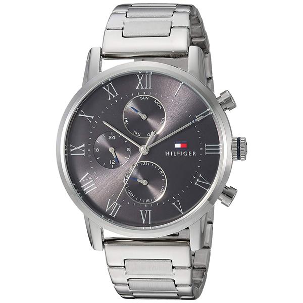 トミーヒルフィガー 腕時計 メンズ KANE マルチファンクション グレー シルバー ステンレス 1791397 ビジネス 男性 ブランド 時計 誕生日 お祝い プレゼント ギフト お洒落
