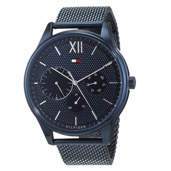 トミーヒルフィガー 腕時計 メンズ DAMON マルチファンクション 44mm ネイビー メッシュ ステンレス 1791421 ビジネス 男性 ブランド 時計 誕生日 お祝い プレゼント ギフト お洒落