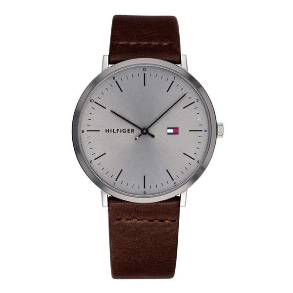 【キャッシュレス5%還元】トミーヒルフィガー 腕時計 メンズ レディース シェア JAMES 40mm シルバーケース ダークブラウン レザー 1791463 ビジネス 男性 女性 ブランド 時計 誕生日 お祝い プレゼント ギフト