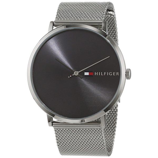 トミーヒルフィガー 腕時計 メンズ JAMES 39mm ブラック文字盤 シルバー メッシュ ステンレス シンプルデザイン 1791465 ビジネス 男性 ブランド 時計 誕生日 お祝い プレゼント ギフト お洒落