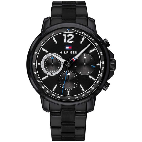 トミーヒルフィガー 腕時計 メンズ LANDON マルチファンクション ブラック ステンレス 1791529 ビジネス 男性 ブランド 時計 誕生日 お祝い プレゼント ギフト お洒落