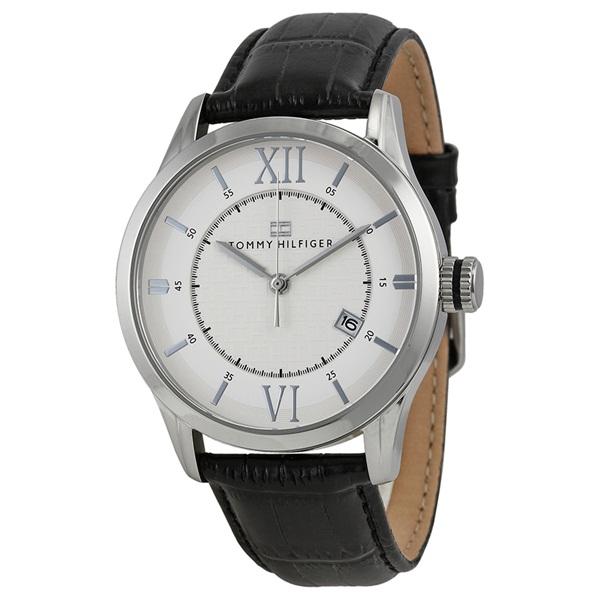 トミーヒルフィガー メンズ 腕時計 ホワイト ブラック クロコ レザー 1710207 ビジネス 男性 ブランド 時計 誕生日 お祝い プレゼント ギフト お洒落