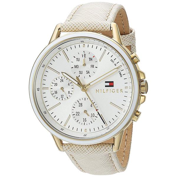 トミーヒルフィガー 腕時計 レディース CARLY マルチファンクション 40mm ゴールドケース ホワイト文字盤 アイボリー レザー 1781790 ビジネス 女性 ブランド 時計 誕生日 お祝い プレゼント ギフト お洒落