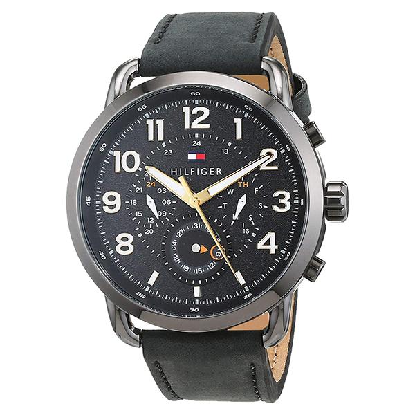 トミーヒルフィガー 腕時計 メンズ BRIGGS マルチファンクション 46mm ブラック レザー 1791426 ビジネス 男性 ブランド 時計 誕生日 お祝い プレゼント ギフト お洒落