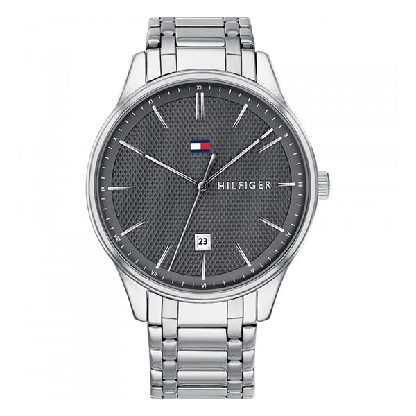 トミーヒルフィガー 腕時計 メンズ DAMON 44mm シルバー ステンレス 1791490 ビジネス 男性 ブランド 時計 誕生日 お祝い プレゼント ギフト お洒落