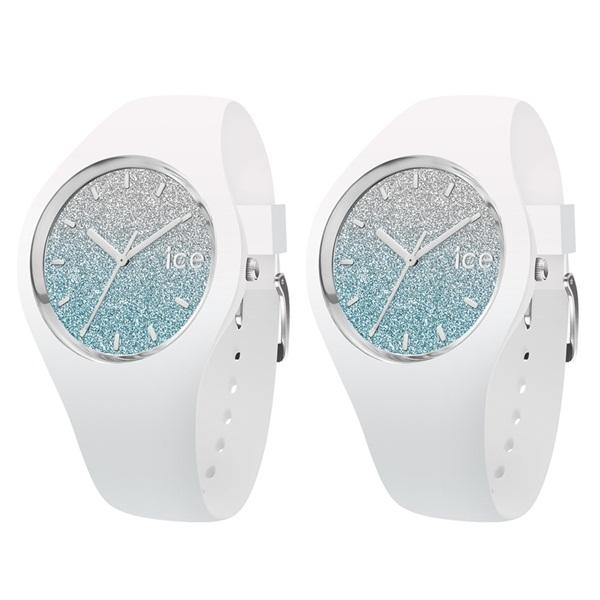 アイスウォッチ 時計 ペアウォッチ シェア ユニセックス ICE lo 43mm ブルー ホワイト シリコン 2本セット 013429013429 ブランド 男女 カップル ペアセット 誕生日 お祝い プレゼント ギフト お洒落