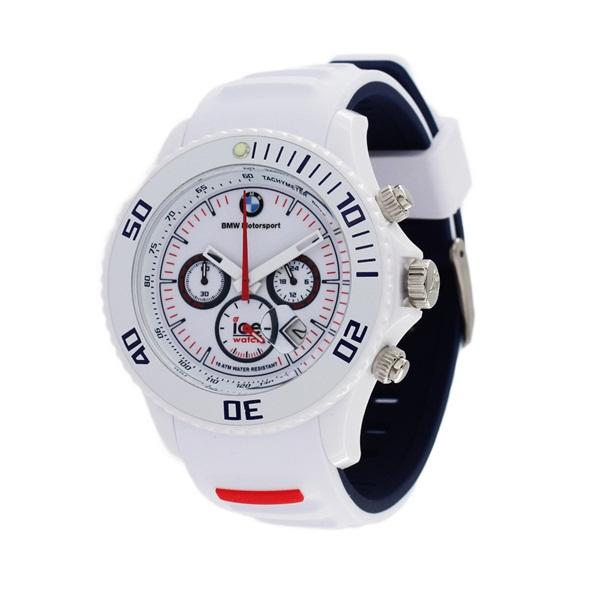 アイスウォッチ 時計 メンズ 腕時計 BMW MOTORSPORT 53ミリ ホワイト シリコン ホワイトケース ホワイト文字盤 BM.CH.WE.BB.S.13 ビジネス 男性 ブランド プレゼント 誕生日 お祝い プレゼント ギフト お洒落