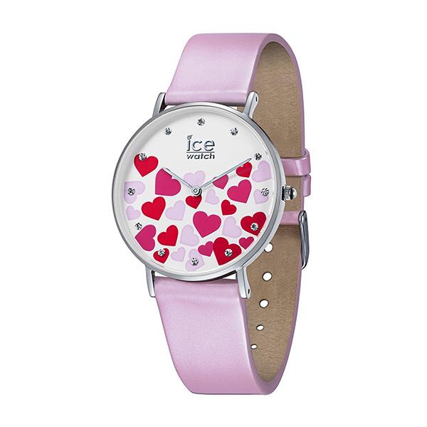 新作 アイスウォッチ 時計 レディース 腕時計 ICE love ハート 35mm シルバー ライトピンク レザー 013373 ブランド 女性 誕生日 お祝い プレゼント ギフト お洒落