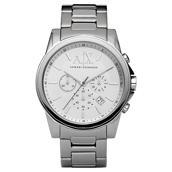 アルマーニエクスチェンジ 時計 メンズ 腕時計 クロノグラフ オールシルバー ステンレス AX2058 ビジネス 男性 ブランド 時計 誕生日 お祝い プレゼント ギフト お洒落