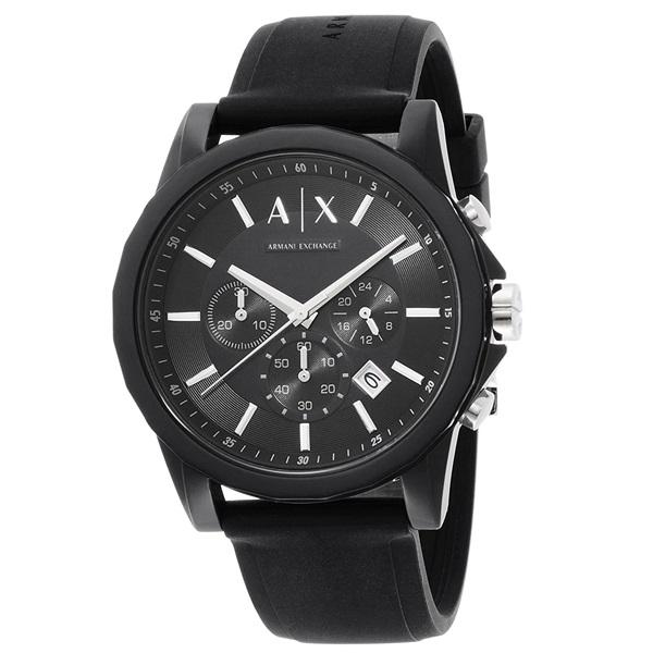 アルマーニ・エクスチェンジ 時計 メンズ 腕時計 クロノグラフ ブラック ラバー AX1326 ビジネス 男性 ブランド 時計 誕生日 お祝い クリスマスプレゼント ギフト お洒落