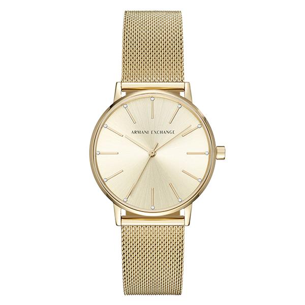アルマーニ・エクスチェンジ 時計 レディース 腕時計 DRESS ドレス 36mm ゴールド メッシュ ステンレス AX5536 ビジネス 女性 ブランド 時計 誕生日 お祝い プレゼント ギフト お洒落