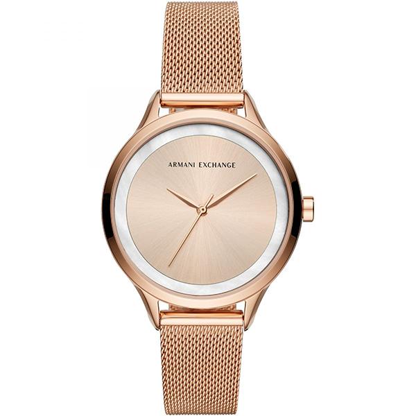 【キャッシュレス5%還元】アルマーニ・エクスチェンジ 時計 レディース 腕時計 AIX 38mm ローズゴールド メッシュ ステンレス AX5602 ビジネス 女性 ブランド 時計 誕生日 お祝い プレゼント ギフト
