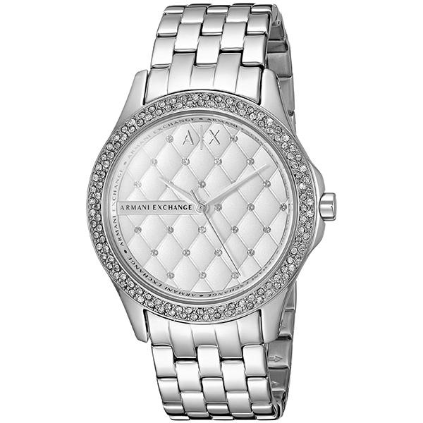 再入荷 アルマーニエクスチェンジ 時計 レディース 腕時計 レディ ハミルトン 36mm シルバー ステンレス クリスタル AX5215 ビジネス 女性 ブランド 時計 誕生日 お祝い プレゼント ギフト