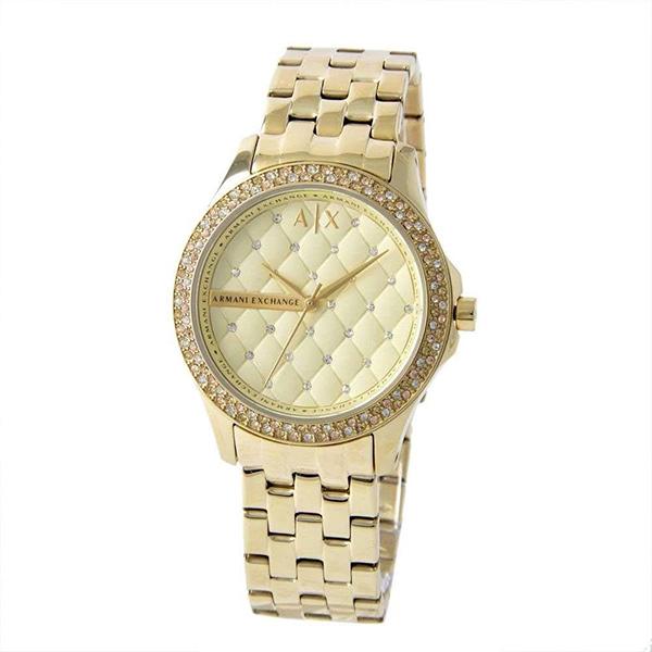 アルマーニエクスチェンジ 時計 レディース 腕時計 レディ ハミルトン 36mm ゴールド ステンレス クリスタル AX5216 ビジネス 女性 ブランド 時計 誕生日 お祝い プレゼント ギフト お洒落