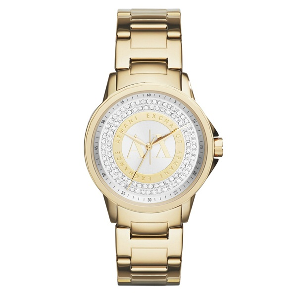 アルマーニ・エクスチェンジ 時計 レディース 腕時計 クリスタル 35mm ゴールド ステンレス AX4321 ビジネス 女性 ブランド 時計 誕生日 お祝い プレゼント ギフト お洒落