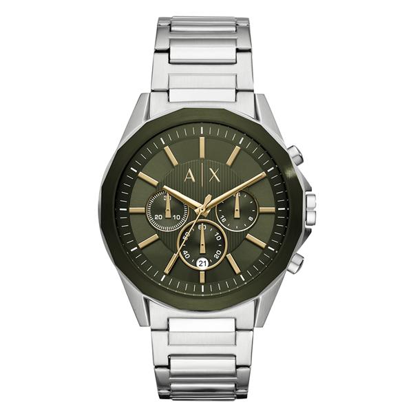 【キャッシュレス5%還元】アルマーニ・エクスチェンジ 時計 メンズ 腕時計 Drexler クロノグラフ カーキ×ゴールド シルバー ステンレス AX2616 ビジネス 男性 ブランド 時計 誕生日 お祝い プレゼント ギフト