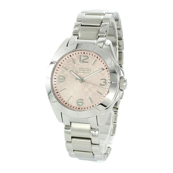 コーチ 時計 レディース 腕時計 トリステン シルバー ピンク文字盤 ステンレス 14501782 ビジネス 女性 ブランド 誕生日 お祝い プレゼント ギフト