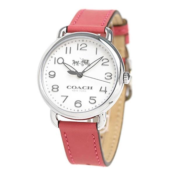 コーチ 時計 レディース 腕時計 DELANCEY デランシー シルバー ピンクレザー 革 14502717 ビジネス 女性 ブランド 誕生日 お祝い プレゼント ギフト