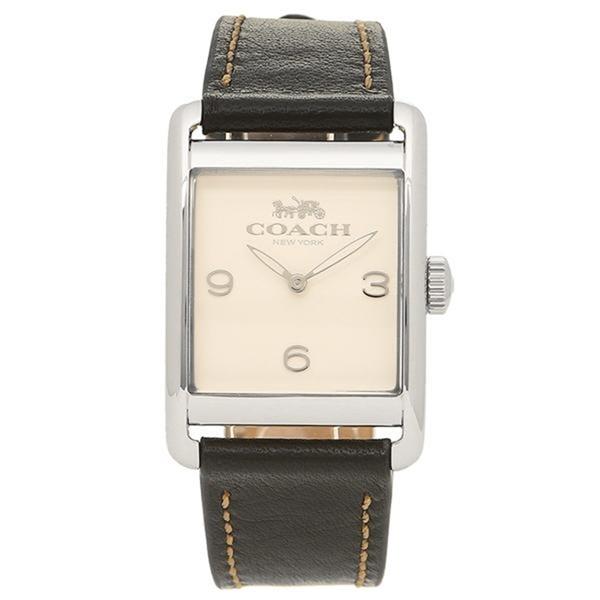 コーチ 時計 レディース 腕時計 RENWICK アイボリー×ブラック レザー 革ベルト 14502830 ビジネス 女性 ブランド 【仕事用】 誕生日 お祝い プレゼント ギフト お洒落