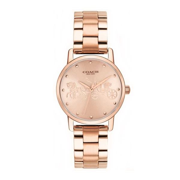 82259b95a3dc コーチ時計レディース腕時計GRANDグランドピンクゴールドブレスレットウォッチ14502977 コーチ 売り尽くし