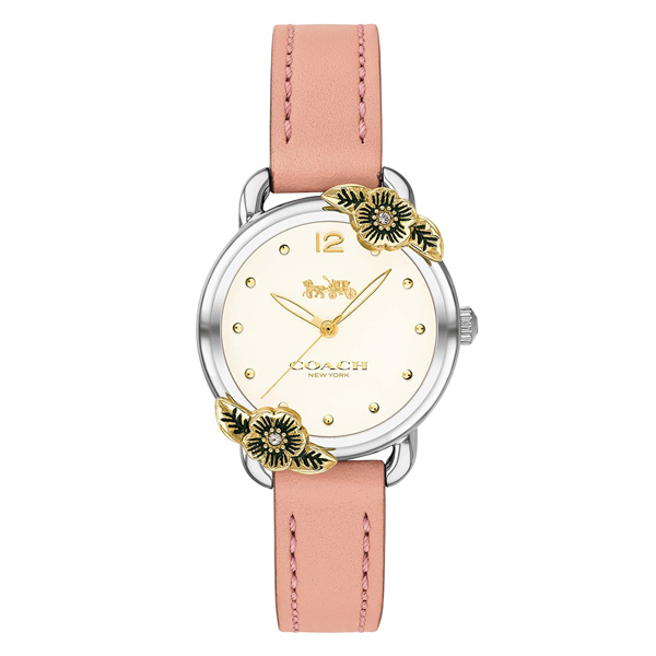 コーチ 時計 レディース 腕時計 DELANCEY デランシー 花柄 ピンク レザー 革ベルト 14503239 ビジネス 女性 ブランド 誕生日 お祝い プレゼント ギフト