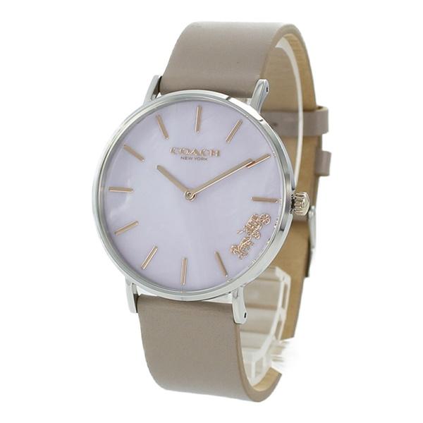 コーチ 時計 レディース 腕時計 PERRY ペリー 綺麗色 ライトピンク シェル グレージュ レザー 革 とけい 14503245 ビジネス 女性 ブランド 誕生日 お祝い プレゼント ギフト