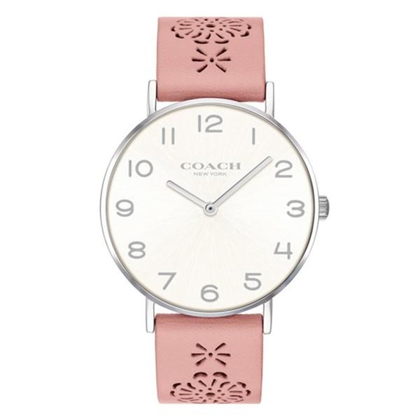 コーチ 時計 レディース 腕時計 ペリー 白文字盤 かわいい ピンクレザー 花模様 革ベルト 14503257 ビジネス 女性 ブランド 誕生日 お祝い プレゼント ギフト
