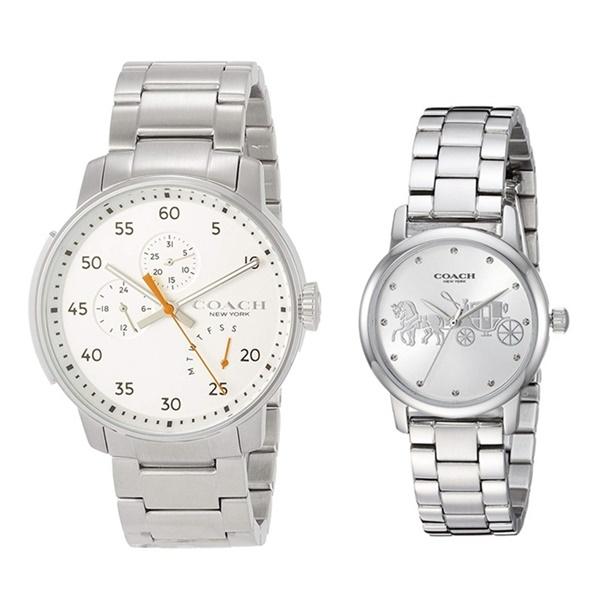 233ed9c3e072 コーチ 腕時計 大人 ペアウォッチ シルバー ブレスレット 2本 時計セット 1460235814502975 ブランド カップル 男女 ペア