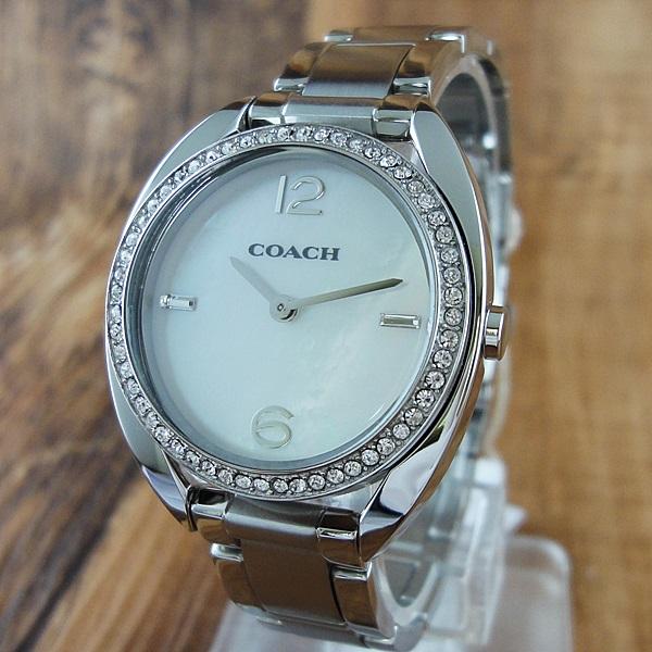 コーチ 時計 レディース 腕時計 SAM クリスタル シェル文字盤 シルバー 14502056 ビジネス 女性 ブランド 【仕事用】 誕生日 お祝い プレゼント ギフト お洒落