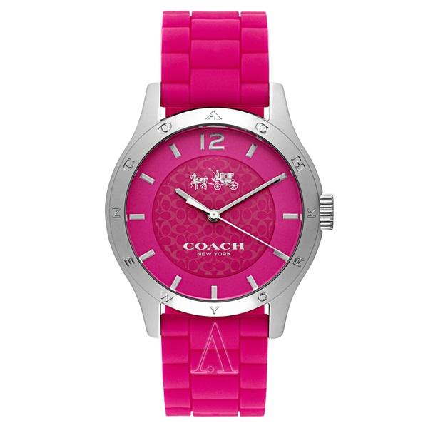 コーチ 時計 レディース 腕時計 MADDY ピンク シリコンベルト 14502513 ビジネス 女性 ブランド 【仕事用】 誕生日 お祝い プレゼント ギフト お洒落