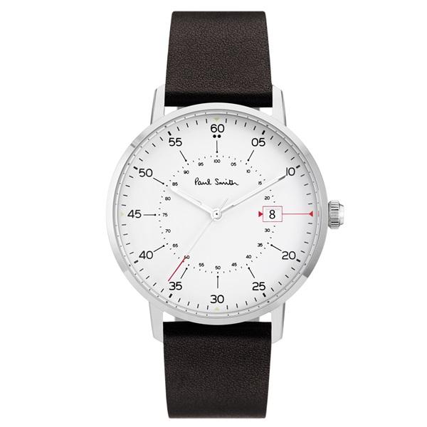 ポールスミス 時計 メンズ 腕時計 ホワイト文字盤 ブラウンレザー P10072 ビジネス 男性 ブランド 時計 誕生日 お祝い プレゼント ギフト お洒落