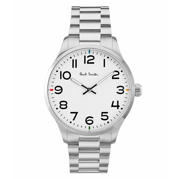 ポールスミス 時計 メンズ 腕時計 テンポ シルバー ステンレス シルバーケース ホワイト文字盤 P10063 ビジネス 男性 ブランド 時計 誕生日 お祝い プレゼント ギフト お洒落