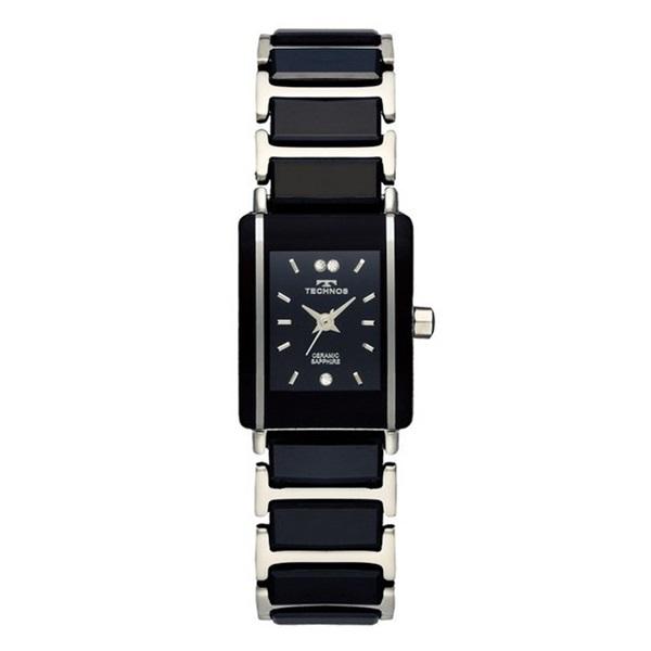 テクノス 時計 腕時計 レディース ブラック シルバー ステンレス ブレスレットウォッチ TSL906TB ビジネス 女性 ブランド 時計 誕生日 お祝い プレゼント ギフト