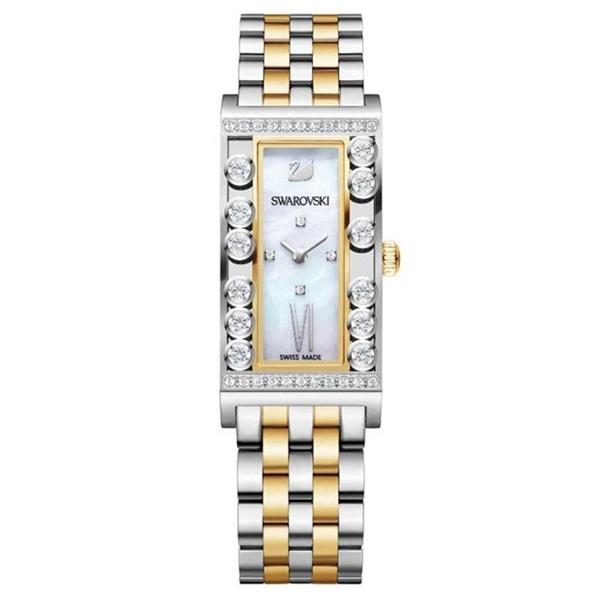 【数量限定】スワロフスキー 時計 レディース 腕時計 LOVELY CRYSTALS SQUARE クリスタル シルバーゴールド ブレスレット 5096689 ビジネス 女性 ブランド 【仕事用】 誕生日 お祝い プレゼント ギフト お洒落