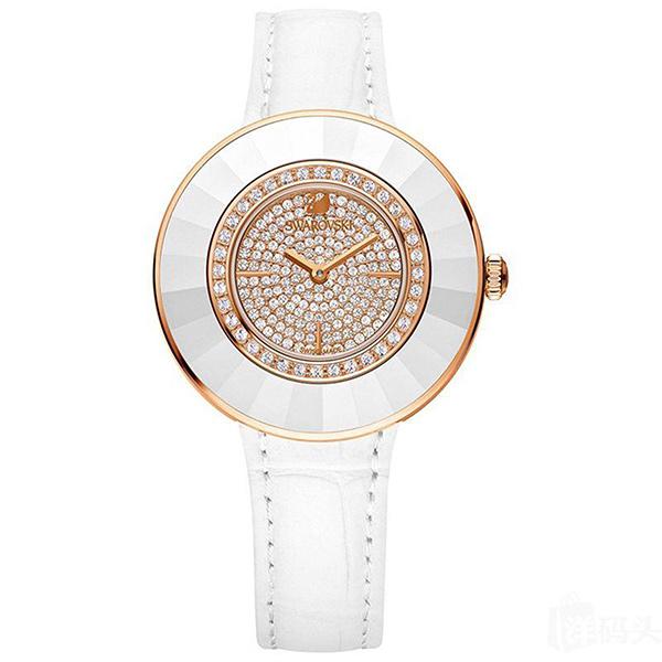 【数量限定】スワロフスキー 時計 レディース 腕時計 OCTEA DRESSY クリスタル ホワイトレザー 5095383 ビジネス 女性 ブランド 誕生日 お祝い プレゼント ギフト