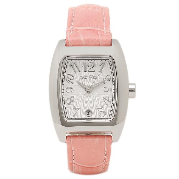 フォリフォリ 時計 レディース 腕時計 24ミリ ピンク レザー シルバーケース ホワイト文字盤 S922 Pink ビジネス 女性 ブランド 時計 誕生日 お祝い クリスマスプレゼント ギフト お洒落