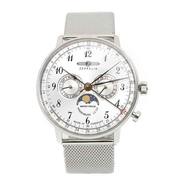 ツェッペリン 時計 メンズ 腕時計 ヒンデンブルク シルバー ステンレス 7036M-1 ビジネス 男性 ブランド 【仕事用】 誕生日 お祝い プレゼント ギフト お洒落