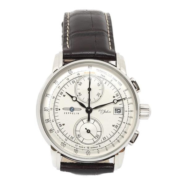 ツェッペリン 時計 メンズ 腕時計 LZ1 100周年記念モデル クロノグラフ ダークブラウン 天然皮革 8670-1 ビジネス 男性 ブランド 【仕事用】 誕生日 お祝い プレゼント ギフト お洒落